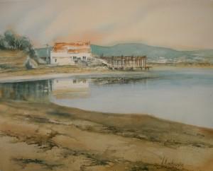 doux reflets d'une fin de journée - étang de Thau (Copier)
